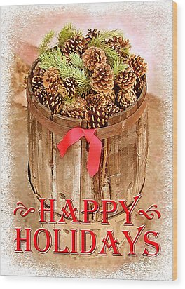 Wood Print featuring the photograph Happy Holiday Barrel by Cristophers Dream Artistry