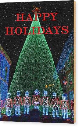 Happy Holidays Wood Print by David Lee Thompson