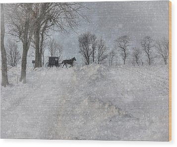 Happy Holidays From Pa Wood Print by Lori Deiter