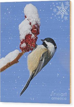 Happy Holidays... Wood Print by Nina Stavlund