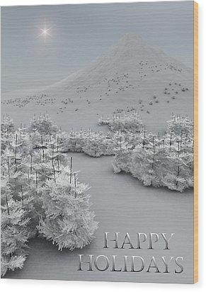 Happy Holidays Wood Print by Richard Rizzo