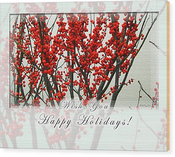 Happy Holidays Wood Print by Xueling Zou