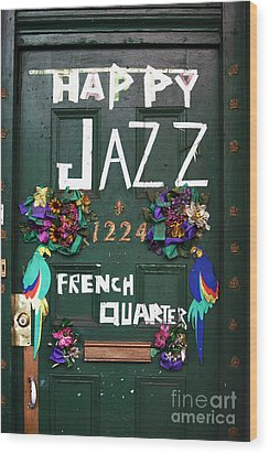 Happy Jazz Wood Print by John Rizzuto