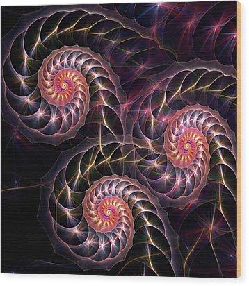 Happy Lights Wood Print by Anastasiya Malakhova