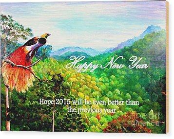 Happy New Year Wood Print by Jason Sentuf