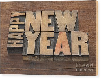 Wood Print featuring the photograph Happy New Year by Marek Uliasz