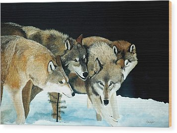 Happy Pack Wood Print by Jean Yves Crispo