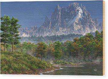 Happy River Valley Wood Print by Daniel Eskridge