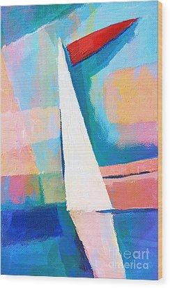 Happy Sailing Wood Print by Lutz Baar