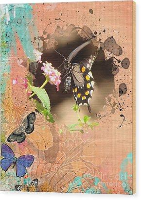 Happy Spring Wood Print by Linda Cox