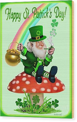 Happy St. Patrick's Day Wood Print