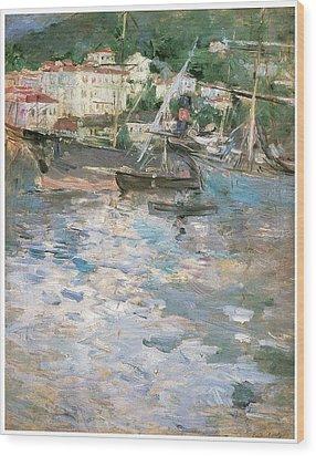 Harbor At Nice Wood Print by Berthe Morisot