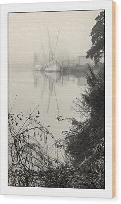Harbor Fog No.3 Wood Print