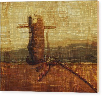 Harbor Wood Print by Jack Zulli