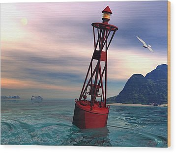 Harbor Light Wood Print