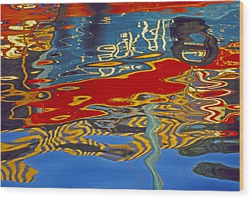 Wood Print featuring the photograph Harbor Reflections by Dennis Cox WorldViews