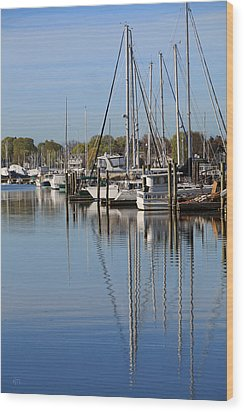 Harbor Reflections Wood Print by Karol Livote
