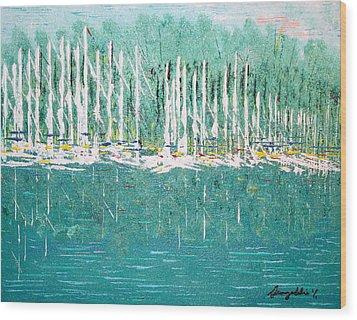 Harbor Shores Wood Print
