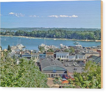 Harbor Springs Michigan Wood Print by Bill Gallagher