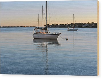 Wood Print featuring the photograph Harbor Sunrise by Anthony Baatz