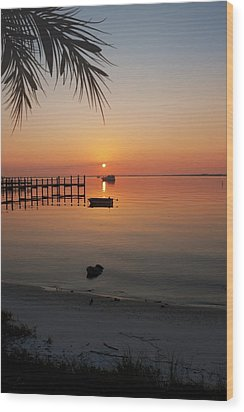 Harbor Sunrise Wood Print by Regina  Williams