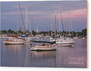 Harbor View Wood Print by Butch Lombardi