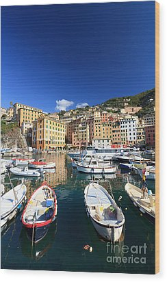 Wood Print featuring the photograph Harbor With Fishing Boats by Antonio Scarpi