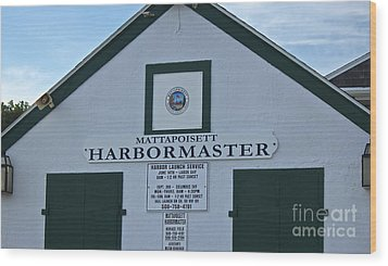 Harbormaster Wood Print by Amazing Jules