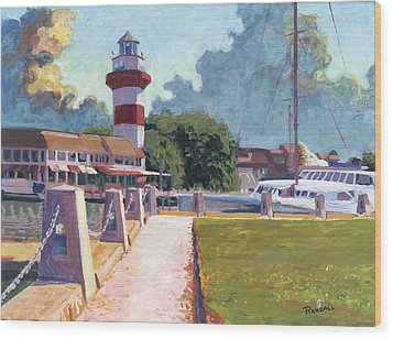 Harbour Town Light Wood Print