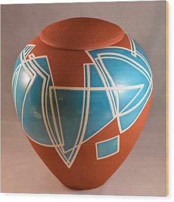 Hard Edge Rhythms A. Wood Print by Chris Tennis