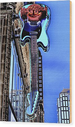 Hard Rock Cafe Seattle Wood Print by David Patterson