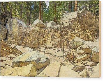 Hard Rock Forest Wood Print