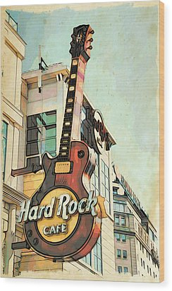 Hard Rock Guitar Wood Print
