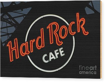 Hard Rock - St. Louis Wood Print by Gary Gingrich Galleries