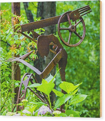 Hard Working Man Wood Print by Carolyn Marshall