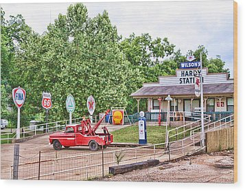 Hardy Station Wood Print by Audreen Gieger