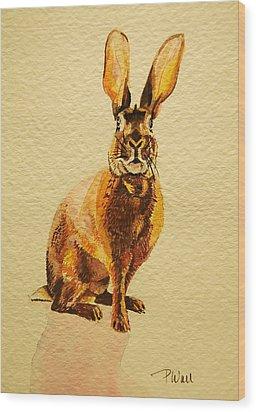 Hare Wood Print