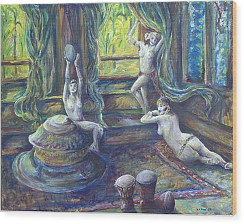 Harem Room Wood Print by Nick Vogel