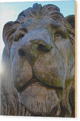 Harlaxton Lions Wood Print
