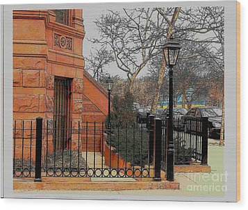 Harlem Corner Wood Print by Rudy Collins