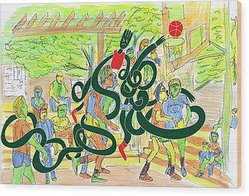 Harlem-me Vs Me By Will A.k Wood Print by Willhemus Ardylles