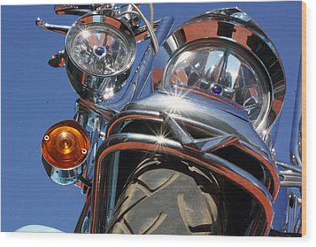 Wood Print featuring the photograph Harley Close Up by Shoal Hollingsworth