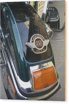 Harley Close-up Tail Light Wood Print by Anita Burgermeister