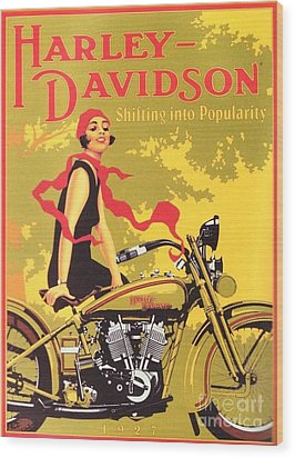 Harley Davidson 1927 Poster Wood Print