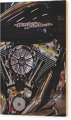 Harley Davidson Abstract Wood Print
