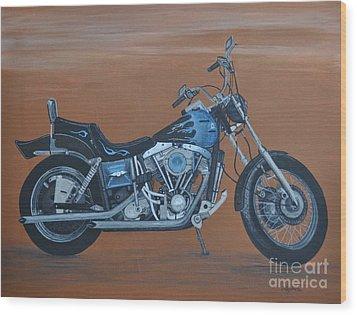 Harley Davidson Dyna Wood Print by Sally Rice