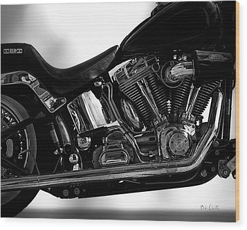 Harley Davidson  Military  Wood Print by Bob Orsillo