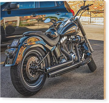 Harley Davidson Wood Print by Steve Harrington