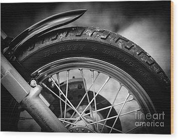 Harley Davidson Tire Wood Print by Carsten Reisinger