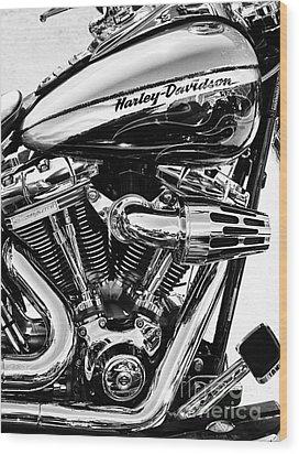 Harley Monochrome Wood Print